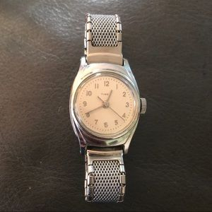 Women's Timex Watch - Chrome plated mechanical